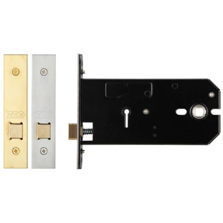Zoo Hardware ZUKH152PVD Horizontal Mortice Latch Polished Brass 152mm